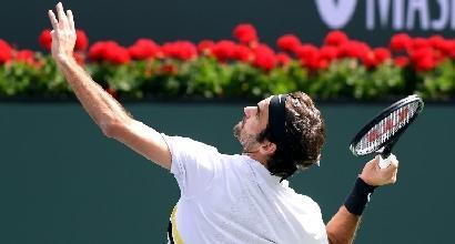 Tennis, Del Potro batte Federer a Indian Wells
