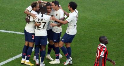 Ligue 1, il Psg non si ferma più: 3-0 a Nizza e otto su otto. Lione pari col Nantes e a -10
