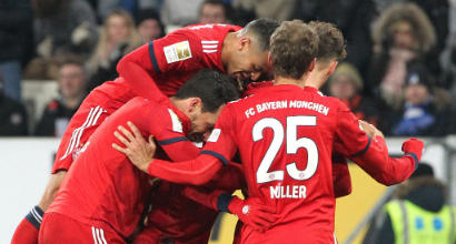 Bundesliga, il Bayern riprende la corsa: Goretzka ispira il 3-1 all'Hoffenheim