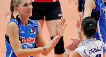 Francesca Piccini e Paola Cardullo in Nazionale, foto Lapresse