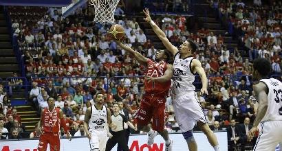 Basket, Playoff serie A: Milano vince facile, Trento vola