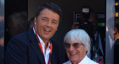 Renzi ed Ecclestone (LaPresse)