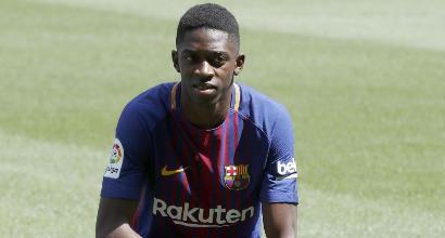 Barcellona: ricaduta per Dembelé, fuori altre 3-4 settimane