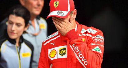 """Gp Monza, Vettel deluso: """"Che m.... Hamilton non mi ha lasciato spazio e ha avuto fortuna"""""""