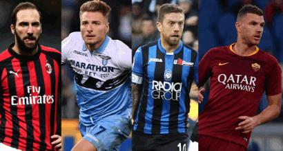 Posto Champions: Milan, Lazio, Atalanta e Roma si contendono la quarta piazza
