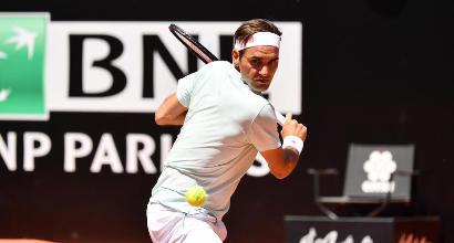 Tennis, Masters 1000 Roma: Federer si ritira per problemi muscolari