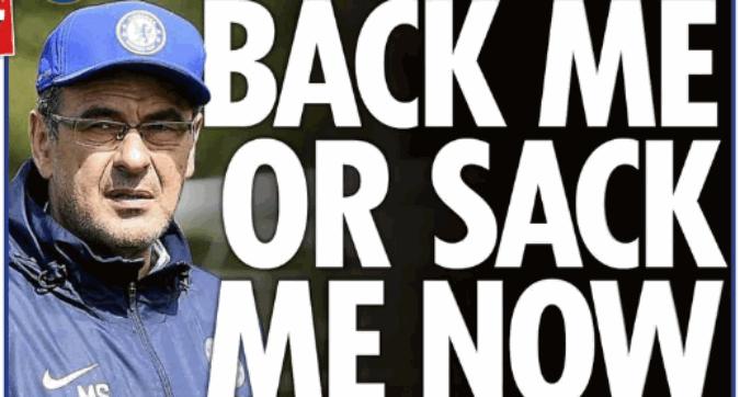 Sarri e l'ultimatum al Chelsea:
