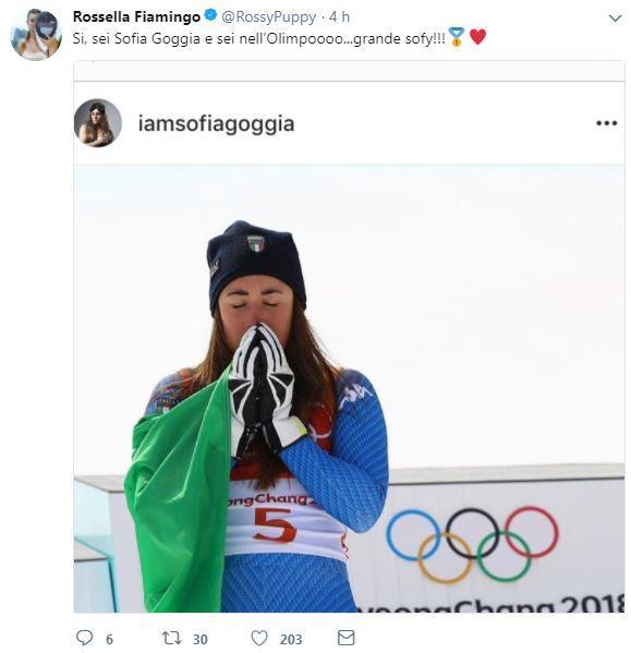 Goggia d'oro, lo sport italiano si complimenta