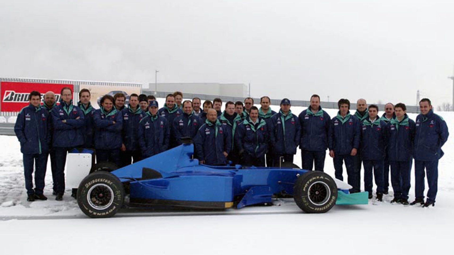 Gennaio 2013. Presentazione a Fiorano sulla neve per la nuova Sauber C22.