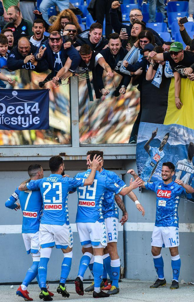 Roma-Napoli, il big match dell'Olimpico in foto.