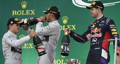 Rosberg Hamilton Vettel AFP, Foto AFP