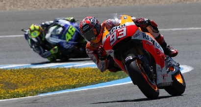 Marquez davanti a Rossi (IPP), Foto IPP