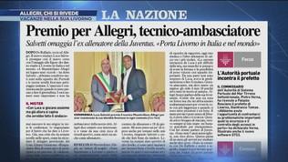 Allegri, che relax a Livorno