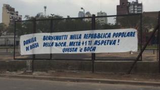"""""""De Rossi al Boca nei prossimi giorni"""". Ecco il primo striscione"""
