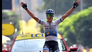 Tour de France: Trentin va in fuga e vince, Alaphilippe e i big lontani aspettando le Alpi