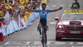 Tour de France: Quintana re del tappone alpino, Alaphilippe recupera in discesa e resta maglia gialla