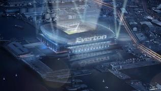 Everton, presentato il nuovo stadio: pronto nel 2023