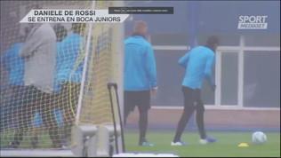 Boca, De Rossi si allena con Tevez