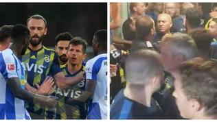 Hertha-Fenerbahce, tra Emre Belozoglu e Torunarigha scoppia una rissa e deve intervenire la Polizia