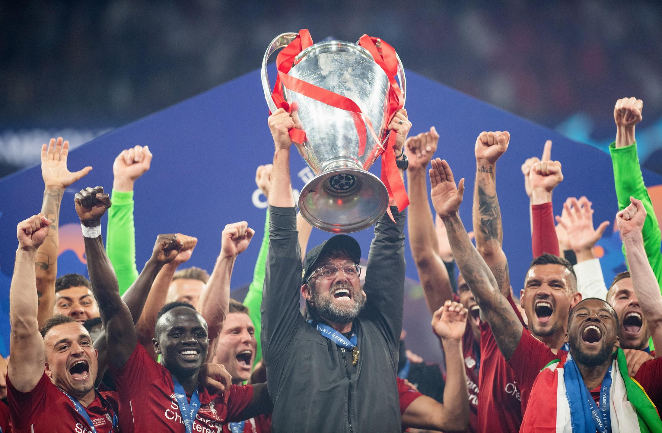 Jurgen Klopp: con il Liverpool ha vinto la Champions League battendo in finale il Tottenham