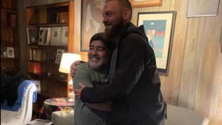 De Rossi-Maradona, l'incontro