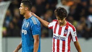 ICC, Atletico-Juve, Joao Felix show davanti a Ronaldo: il mondo applaude