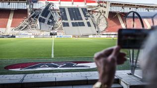 AZ Alkmaar shock: crolla una parte dello stadio
