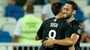 Amichevoli, Feronikeli-Milan 0-2, gol di Suso e Borini