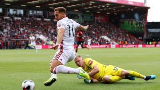 Sheffield, la storia di Sharp: a 33 anni segna il primo gol in Premier
