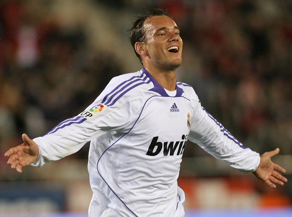 Wesley Sneijder ai tempi del Real Madrid (2007-2009)