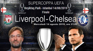 Supercoppa Europea, derby inglese Liverpool-Chelsea