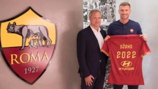 """Mercato Roma: Dzeko rinnova fino al 2022 """"questa è casa mia"""". Ma l'Inter spera ancora"""