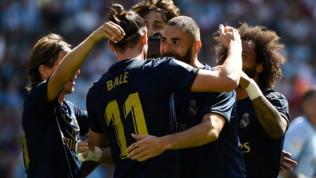 Liga, Celta Vigo-Real Madrid 1-3: Benzema-Kroos-Vazquez