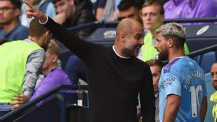 Manchester City-Tottenham, Aguero e Guardiola litigano dopo il cambio, poi fanno pace