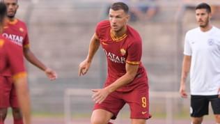Arezzo-Roma 1-3: Dzeko festeggia il rinnovo con gol