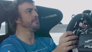 Alonso a tutto gas: anche i videogiochi