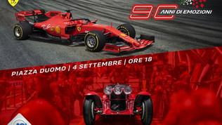 La storia della Ferrari sfilerà in Piazza Duomo a Milano con Vettel e Leclerc