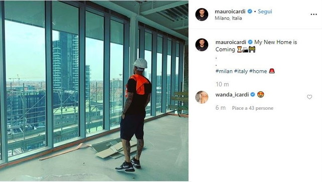 Icardi presenta la sua nuova casa... a Milano