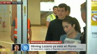 Napoli: Lozano è atterrato a Roma, mister 42 milioni