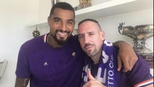 """Fiorentina, Boateng saluta Ribery: """"Benvenuto fratello"""". """"Ciao amico mio"""""""