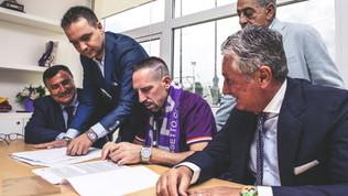 Fiorentina, la prima giornata di Ribery