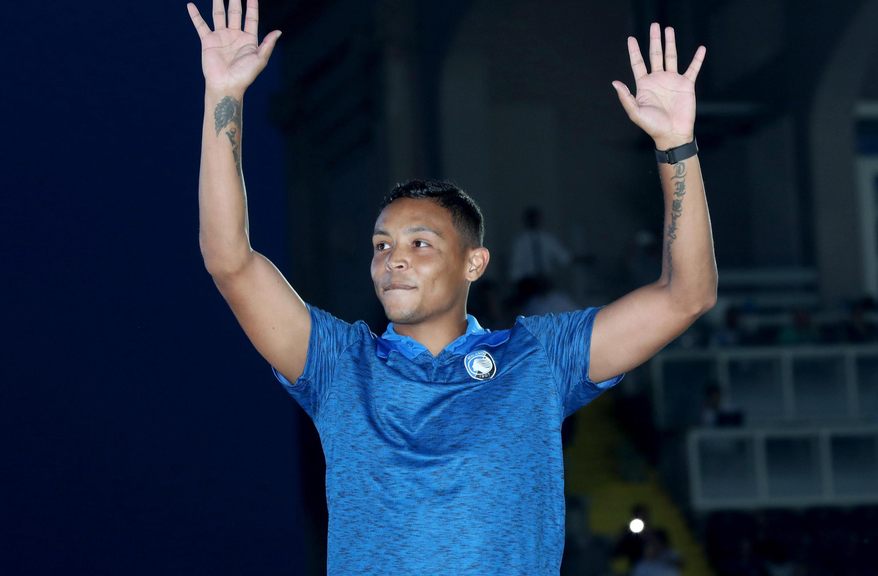 Luis Muriel, attaccante dell'Atalanta: ha giocato gli ultimi sei mesi alla Fiorentina