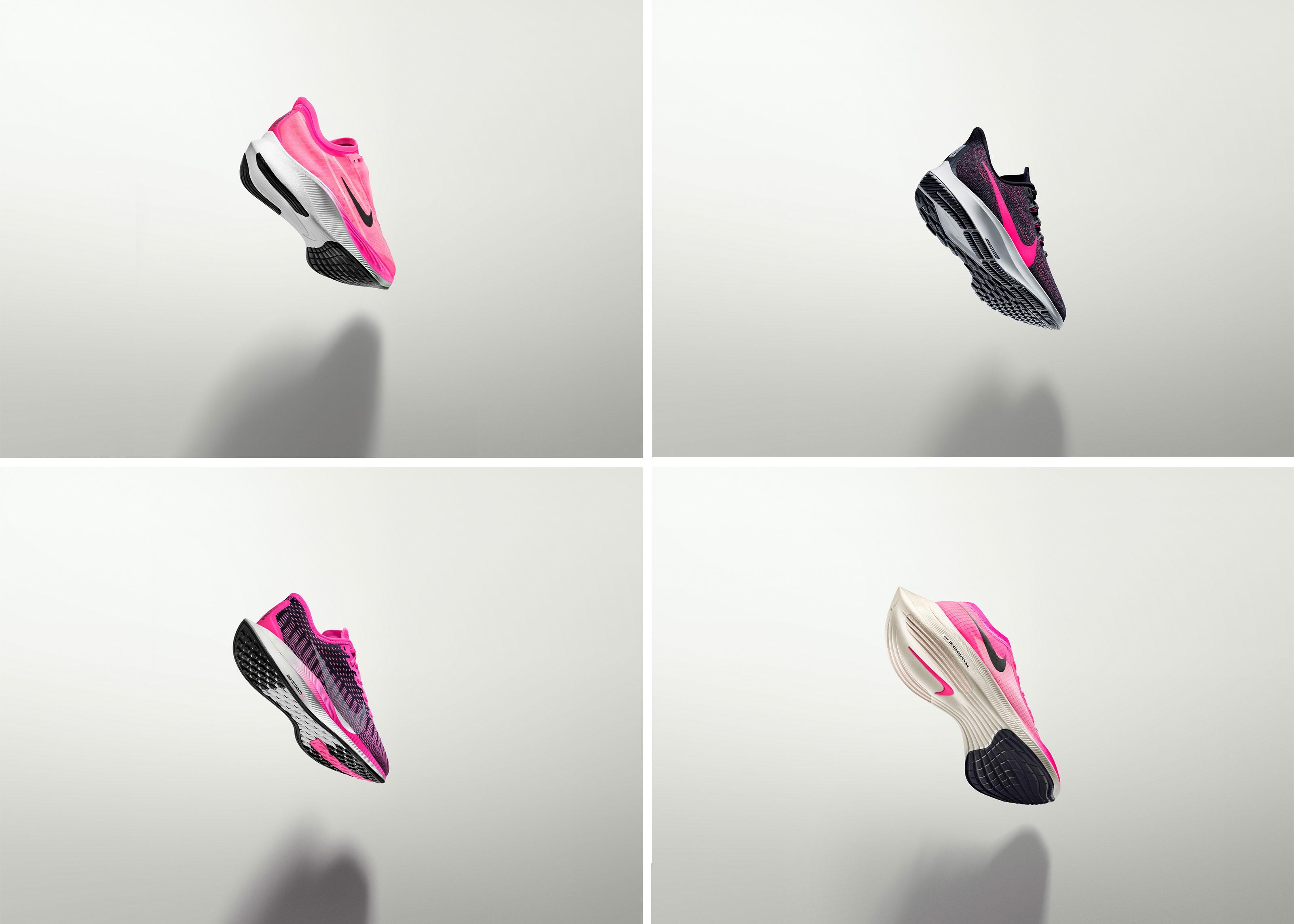 La velocit&agrave; &egrave; l&rsquo;essenza di queste scarpe da allenamento e da gara, che si adattano alle esigenze di ogni tipo di runner, dai maratoneti esperti a quelli che semplicemente si divertono a macinare chilometri di corsa nei week-end.Grazie all&rsquo;unit&agrave; Nike Zoom Air su tutta la lunghezza della suola o alla schiuma Nike ZoomX super reattiva, ogni scarpa della famiglia Zoom regala un&rsquo;esperienza unica. Giusto in tempo per l&rsquo;inizio della stagione delle maratone, la Famiglia Nike Zoom 2019 -&nbsp;Nike Air Zoom Pegasus 36,&nbsp;Nike&nbsp;Zoom Pegasus Turbo 2,&nbsp;Nike Zoom Fly 3&nbsp;e&nbsp;Nike ZoomX Vaporfly Next% -&nbsp;si allarga presentando la nuova colorazione rosa neon.<br /><br />