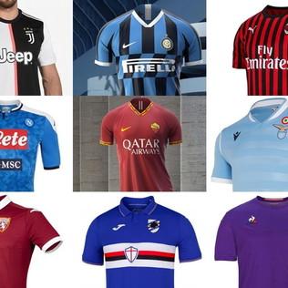 Serie A, ecco le maglie di tutte le squadre