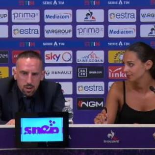 Alessia Enriquez al fianco di Ribery: la traduttrice si prende la scena