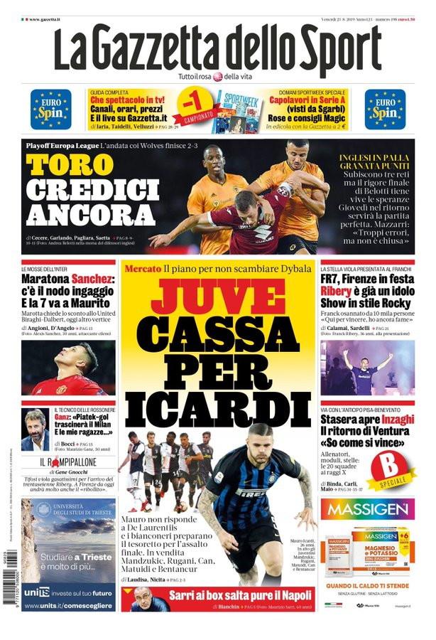 Rassegna stampa dei quotidiani italiani ed esteri