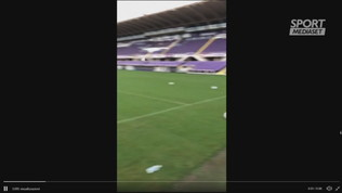 Fiorentina, primo gol di Ribery in allenamento: gran destro al volo