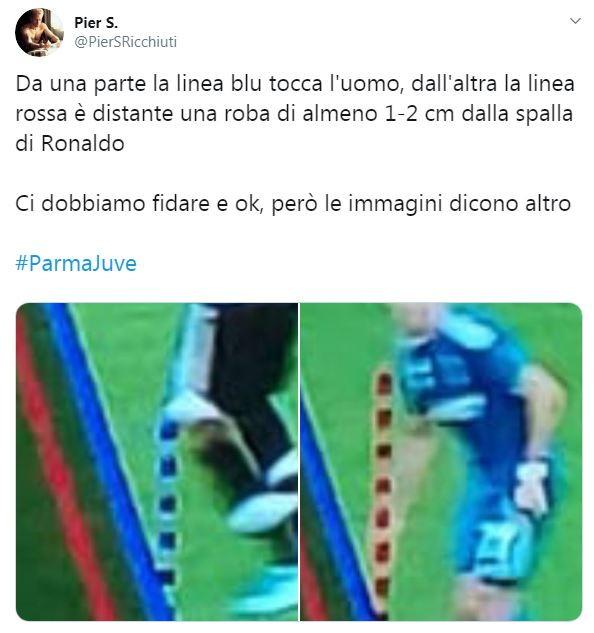 Al 34' del primo tempo di Parma-Juventus l'arbitro Maresca ha annullato un gol di Cristiano Ronaldo sull'1-0 per i bianconeri su segnalazi...