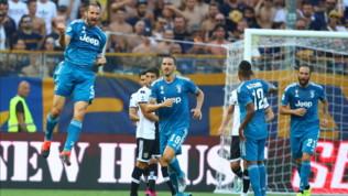 Serie A, Parma-Juventus 0-1: ai bianconeri basta Chiellini