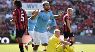 Premier League: il City batte 3-1 il Bournemouth, perde il Tottenham. Pari Wolverhampton al 98'